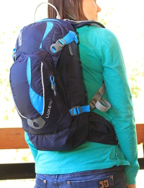 Kristine Weeks, Camelbak's brand manager models the new LUXE NV
