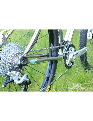 The chainstays are profiled to better the frame's ride