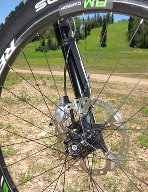Cannondale's new non-booted Lefty Carbon XLR with 130mm of travel