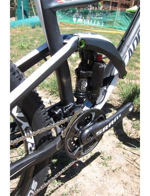 The heart of the Over Mountain line, the Fox-made Dyad RT2 rear shock