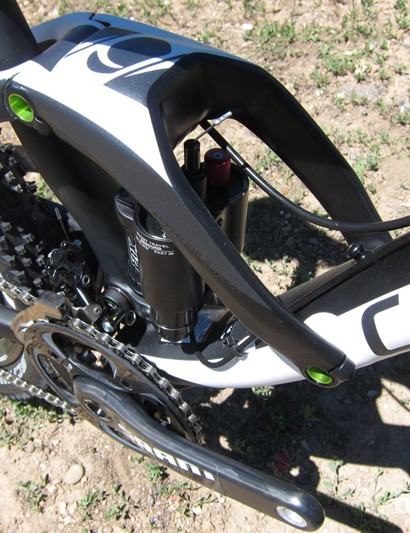 Cannondale's ECS-TC wide format linkage, which is carbon on the Trigger