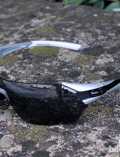 Tifosi Podium sunglasses come with three interchangeable lenses