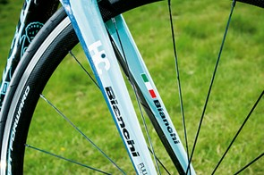 The bike is available in other colours, but true Italian race fans will want as much turquoise trim as possible