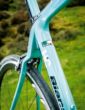 The UTSS seatstays are some of the thinnest we've seen and help take the sting out of back road beastings