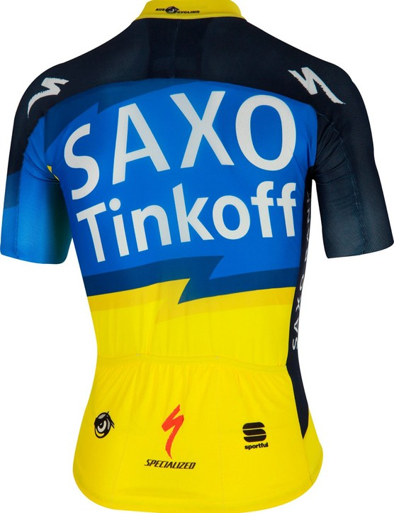 The new Saxo Bank-Tinkoff team kit is again made by Sportful