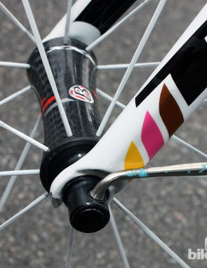 Ultra-light skewers were installed on Contador's Trek Madone 6-Series
