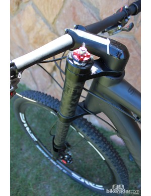 The top of the XLR damper offers rebound adjustment, while a hydraulic XLoc remote allows a rider to toggle between open and platform settings on the compression side