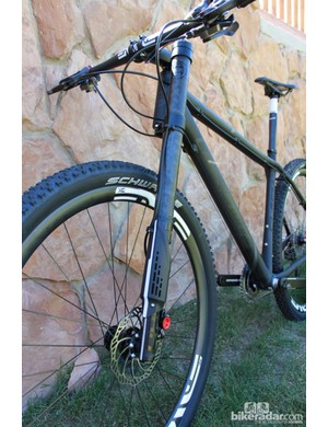The Lefty Carbon on Cannondale's F29 Ultimate 29er hardtail