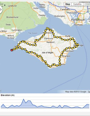 The Round the Island route – does what it says on the tin…