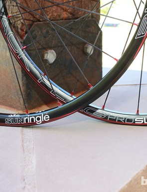 The new wheels use a proprietary 6000 series aluminum alloy extruded to Ringle's own outer profile with a Stan's NoTubes licensed internal BST profile