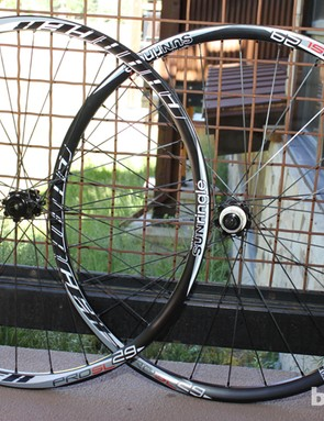 The Charger Pro SL 29er wheelset. Both the Black Flag and Charger wheels will be available in 26in and 29in variants