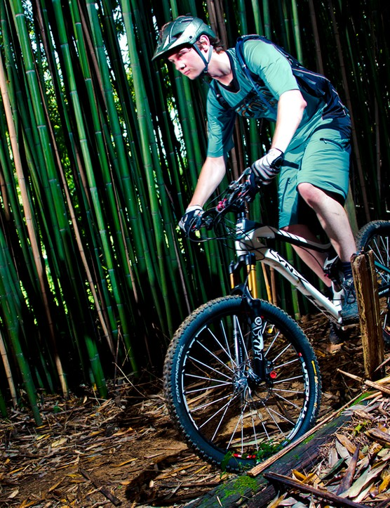The test route provided by BH included many different environments, such as this bamboo forest