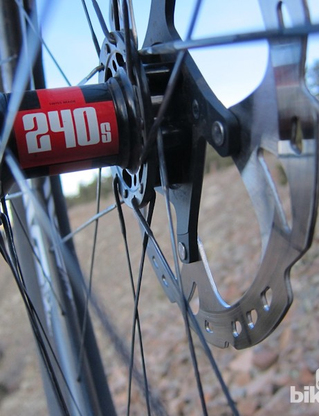 The DT 240s hubs add to the overall light weight