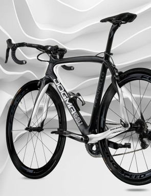 Pinarello added internal cable routing for electric drivetrains, plus used a lighter carbon fiber, for the new Dogma