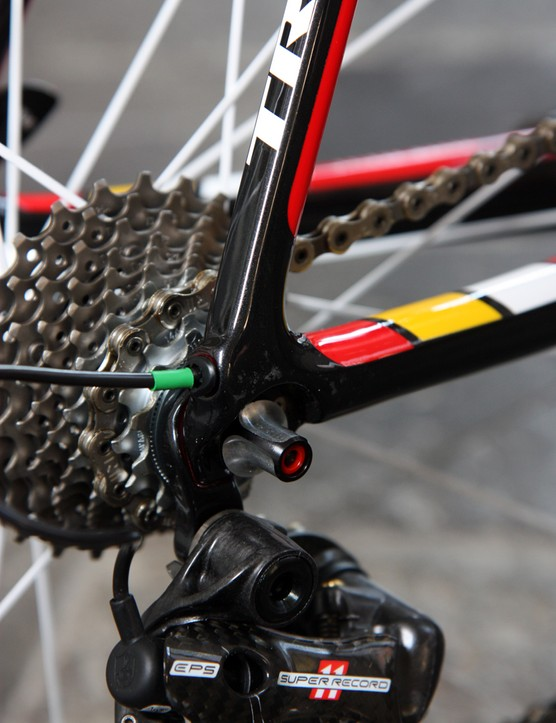 Trek includes carbon fiber dropouts on the Madone 7-Series