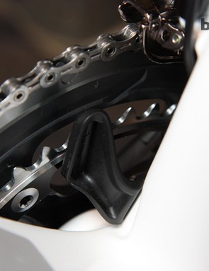 A new 'S3' chain keeper is integrated into the seat tube base on the Trek Madone 7-Series