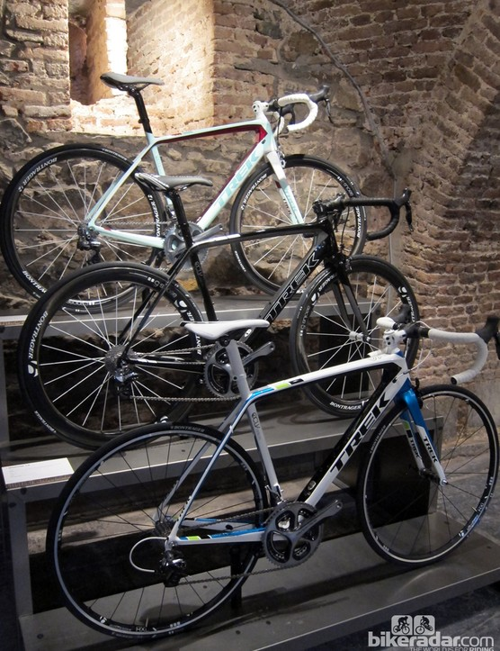 The top-end Trek Madone 7-Series frames will be offered in two men's and one women's-specific model
