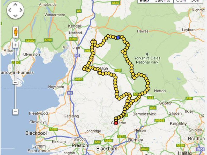 The 100-mile route around the Ribble Valley