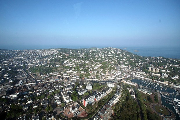 Torbay is part of the so-called 'English Riviera' and includes the towns of Torquay, Paignton and Brixham