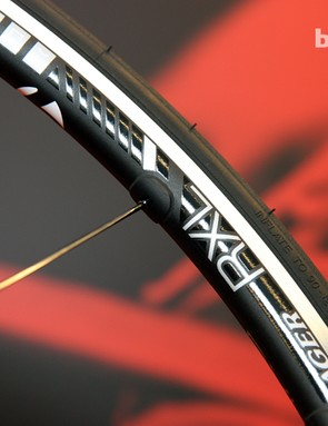 Standard external nipples are used on Bontrager's new TLR range of tubeless-compatible aluminum road wheels