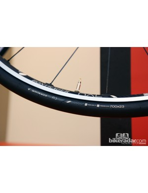 Bontrager will add two new tubeless road clinchers to the range for 2013: the R3 TLR pictured here and the less expensive R2 TLR
