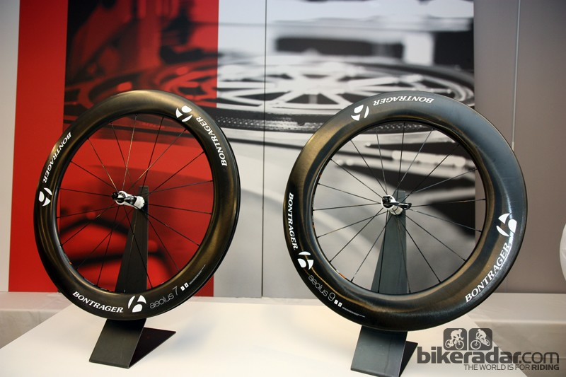New for 2013 from Bontrager are the 70mm-deep Aeolus 7 D3 and 90mm-deep Aeolus 9 D3 carbon clinchers