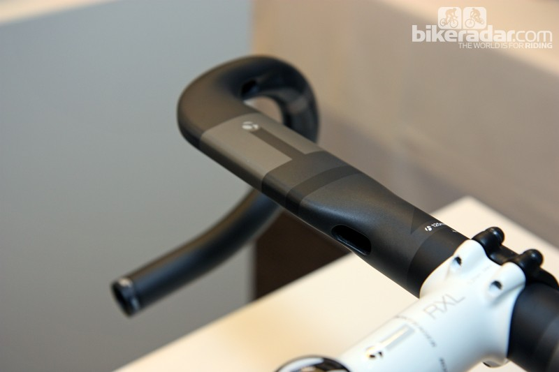 Internal routing on Bontrager's new Race Lite Aero and Race X Lite Aero handlebars maintains the clean outer shape