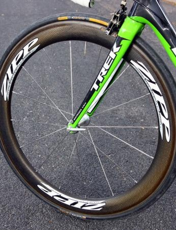 Zipp's new 404 Carbon Clinchers are ultra-fast at speed and remarkably easy to handle in strong crosswinds.