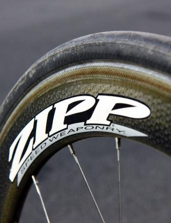 According to Zipp, the 404 Carbon Clincher's new composite system was specifically designed to withstand high heat - the most common mode of failure for full carbon clincher rim beads.