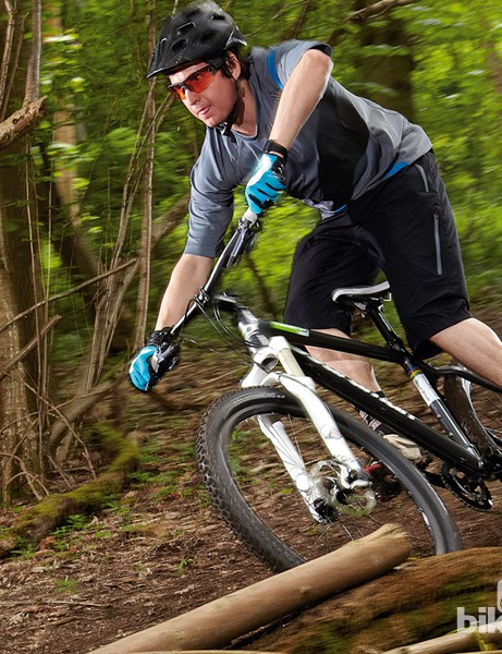 The Boardman Team's fork soaks up trail bumps with ease