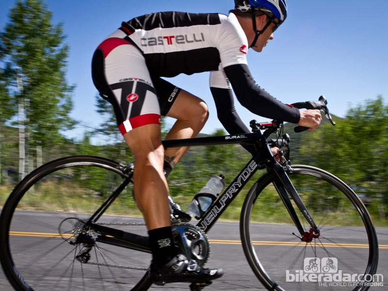 When you're descending, the frame weight isn't noticeable but the stiffness certainly is