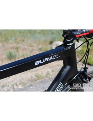 The top tube is a fairly boxy affair