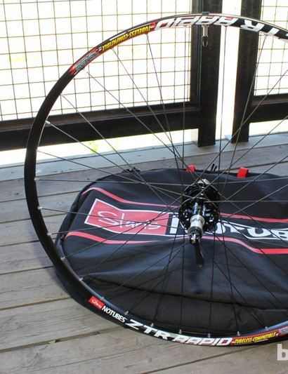NoTubes now have a new eyeleted OEM model called Rapid, specifically for bike brands to spec as the eyelets allow for quicker machine-style wheel-building