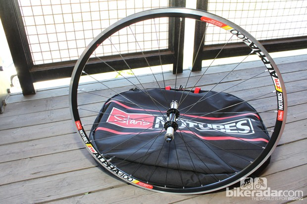The new, stiffer Alpha 400 road wheel