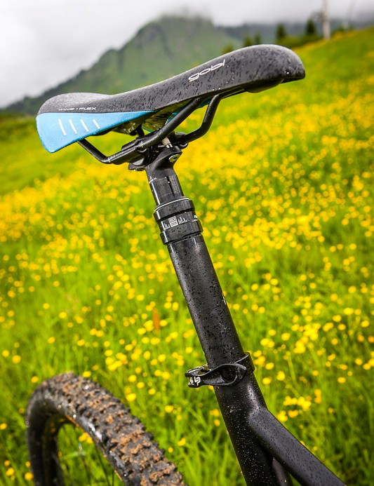 The 2013 Spicy has a shorter seat tube to take advantage of the dropper seatpost