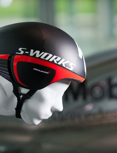 The S-Works + McLaren TT in side profile, showing the innovative 'gill' vent