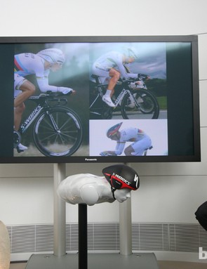 Hundreds of images of TT world champion Tony Martin were studied – these three examples show just how much the head moves throughout a TT