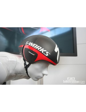 The S-Works + McLaren TT fitted onto 'cricket', the modular wind tunnel dummy developed for the project