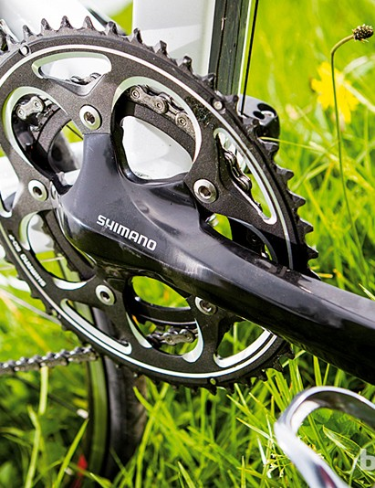 The 11-25 cassette isn't the lowest for climbing, but the compact chainset helps