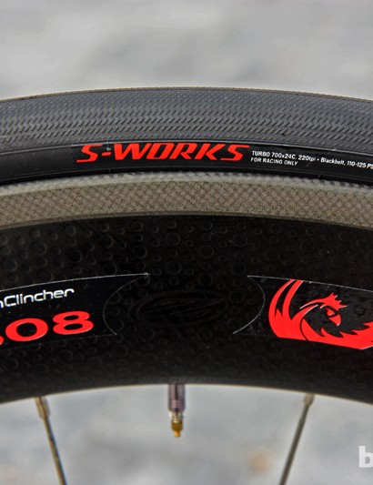 Tony Martin (Omega Pharma-QuickStep) will run Specialized's new clincher tires on Zipp carbon clincher wheels during this year's Tour de France time trials
