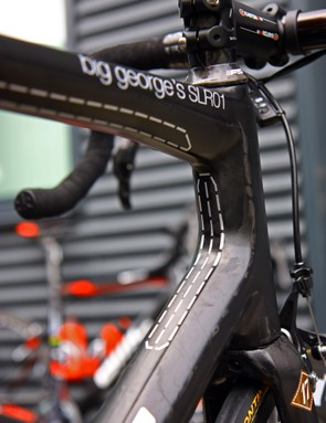 Dashed stripes are littered throughout the frame