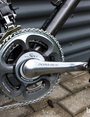 Big George has a SRM power meter installed here but after this year, he likely won't be as concerned with his power output