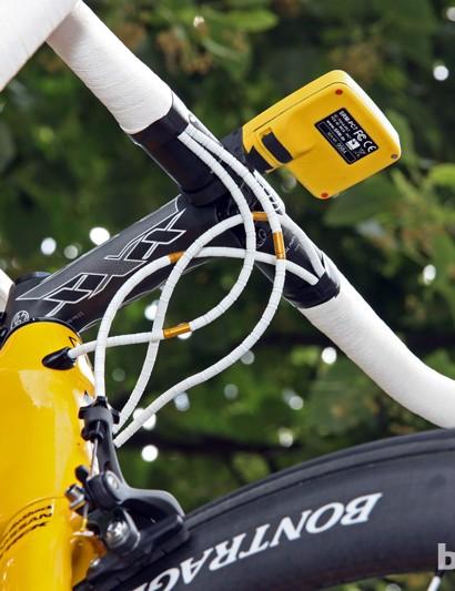 Radioshack-Nissan-Trek mechanic Roger Theel builds Fabian Cancellara's bikes with Nokon cable housing