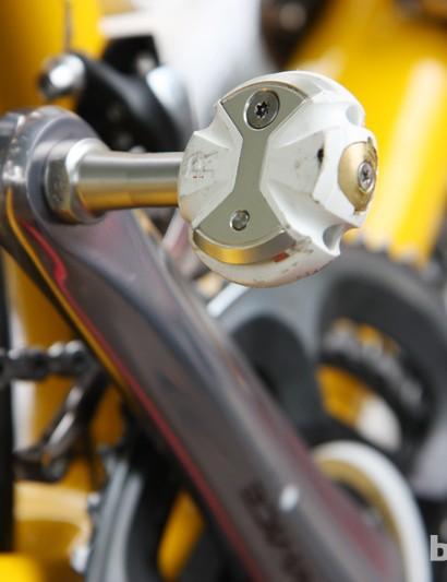 Ultralight Speedplay Nanogram pedals for current Tour de France leader Fabian Cancellara (Radioshack-Nissan-Trek)
