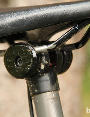 The prototype post currently runs its cable over the top of the seat clamp
