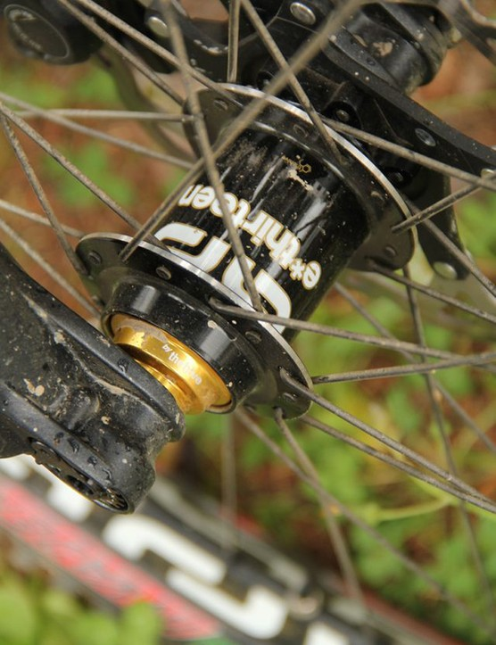 The heart of the TRS+ wheels are the easily serviceable, oversized, carbon fibre shelled hubs