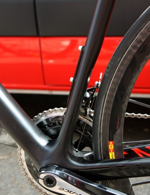 The seat tube is still very wide but is now much shallower than before, in an effort to promote fore-aft flex over bumps