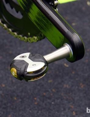 Ultralight Speedplay Zero Nanogram pedals for Slovakian star Peter Sagan (Liquigas-Cannondale)