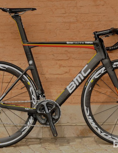 One of the four models that will be available soon is this 'flame' pattern one with Ultegra Di2
