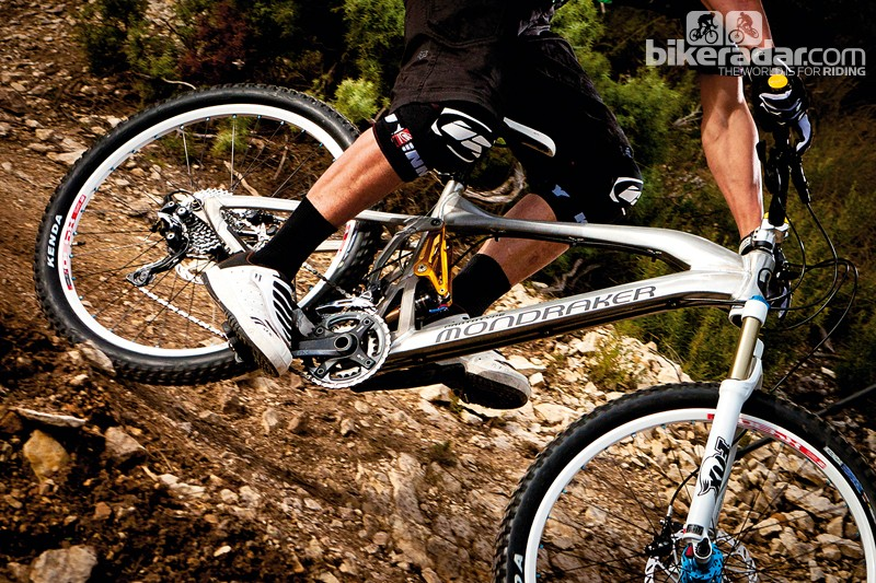 Mondraker's radical new layout involves a tiny stem and a longer top tube to suit it
